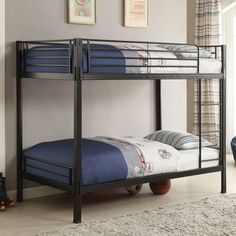 Coaster Furniture Bunks Boltzero Metal Twin over Twin Bunk Bed - Black - 400067T