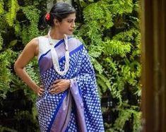 Pure Uppada Silk Saree with Ikkat Pochampally Border Blue Uppada Pattu Sarees, Soft Silk Sarees, Party Wear Sarees, Beautiful Saree, Indian Dresses, Casual Wear, Hand Weaving, Sari, Pure Products