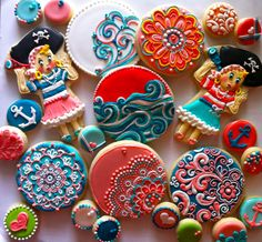 Vintage Pirate Girl Party! ... My personal favorite cookies EVER!