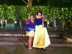 #RunDisneyHalf   Snow White Running costume  I met up with Snow White @ Tinkbell Half Marathon 2013