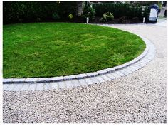 Driveway Edging | Elegant Gravel Driveway Idea With Paver Edging | Paving Corporation™
