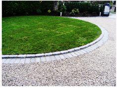 Driveway Edging   Elegant Gravel Driveway Idea With Paver Edging   Paving Corporation™
