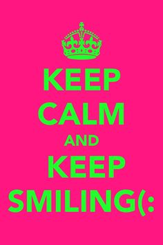 By smiling, u just might make someone else's day better:)