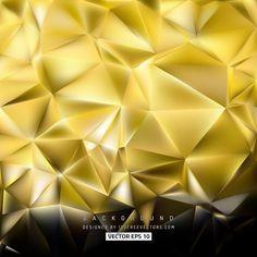 Black Gold Geometric Polygon Background