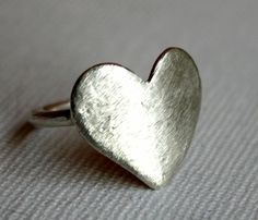 Big Bold Silver Heart Ring *LOVE* #jewelry #woman #ladies #heart #ring #love