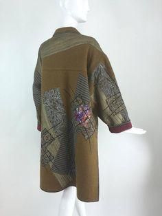 Koos Van Den Akker-Peter DeWilde wool collage big coat 1990s image 4