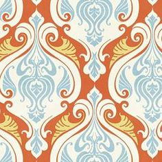 Love this fabric - 'Sea Scallop' from Calico Corners.  Would be perfect in our bedroom with our blue bedding and rug!