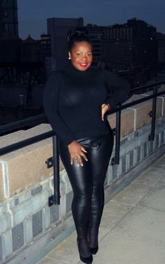 """FAUX THE LOVE OF LEATHER #curvy     """"if you like my curvy girl's fall/winter closet, make sure to check out my curvy girl's spring/summer closet.""""   http://pinterest.com/blessedmommyd/curvy-girls-springsummer-closet/pins/"""