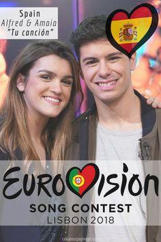 EUROVISION SONG CONTEST 2018: SPAIN – 'TU CANCIÓN' BY ALFRED & AMAIA Pop Music, Seventeen, Musicals, Spain, Celebs, Album, Songs, Portugal, Board