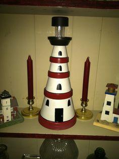 En Fyr Av Krukor Och Fat A Lighthouse Made Of Pots