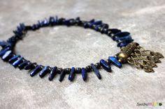 Lapis Lazuli Statement Necklace  Chunky Necklace  by Spectrakraft, $35.25