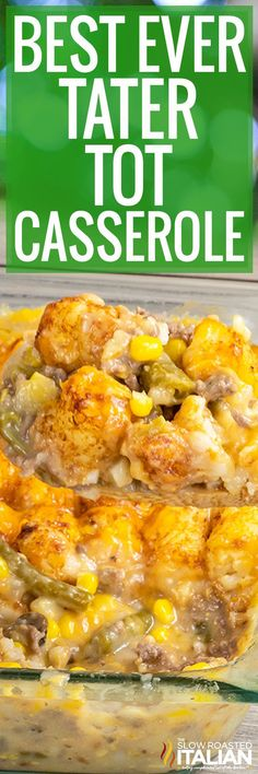 Tater Tot Casserole + VIDEO Tater tot casserole is a delicious ground beef dinner full of veggies and cheesy tots. This recipe makes the best kid-friendly, comfort food! Tater Tots, Easy Tater Tot Casserole, Casserole Dishes, Casserole Recipes, Broccoli Casserole, Easy Meal Prep, Quick Easy Meals, Easy Dinner Recipes, Beef Recipes