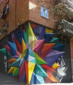 #Streetart in the fancy district La Latina in #Madrid.