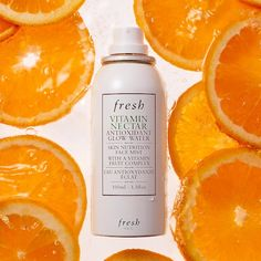 Shop Fresh's Vitamin Nectar Antioxidant Face Mist at Sephora. A multivitamin face mist that delivers a brightening boost of antioxidants. Glow Water, Skin Nutrition, Anti Oxidant Foods, Makeup Setting Spray, Face Mist, Diy Scrub, Dull Skin, Alcohol Free, Facial Masks