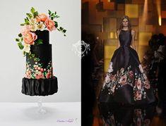 Couture Cake Eli Saab inspired cake by Catalina Anghel azúcar'arte Cupcake Tier, Rolling Fondant, Couture Cakes, Dress Cake, Sugar Flowers, Cake Flowers, Fashion Cakes, Fondant Cakes, Cake Designs