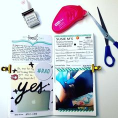 Making it happen! #Journaling #Midori #TravelersNotebook #TheLizDiaries #JournalGirl #Scrapbooking #CraftyGirl