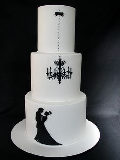 classy. simple. gorgeous. elegant.   wedding cake.