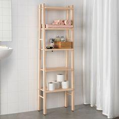 IKEA VILTO shelving unit Perfect in a small bathroom. Bathroom Shelving Unit, Shelves In Bedroom, Bathroom Storage, Small Bathroom, Bathroom Cabinets, Kitchen Cabinets, Cube Storage Unit, Small Space Storage, Storage Organizers