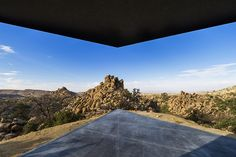 """Oller & Pejic Architecture, an architecture firm from L.A. together with Marc Atlan completed the design of Black Desert Mansion. The unusual home was nested away from the urban """"jungle"""", in Yucca Valley, California."""