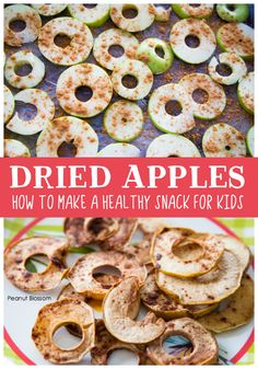 How to make homemade dried apple chips. This healthy fall snack can be used in so many unique ways! Don't miss the list of how to use apple chips inside. Great recipe to make with kids. Snacks To Make, Kid Snacks, Easy Snacks, Yummy Snacks, Healthy Snacks, Dried Apple Chips, Dried Apples, Family Meals, Kids Meals