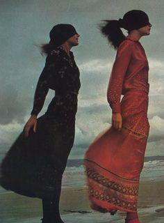 """les filles de i'an 71,"""" photographed by guy bourdin for vogue paris february 1971"""