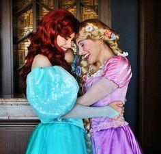 Ariel and Rapunzel Besites