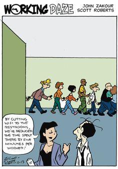 Working Daze Comic Strip, November 13, 2014 on GoComics.com