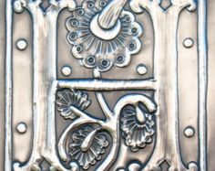 Letter T Monogram Pewter Artwork by ARCHIVES on Etsy