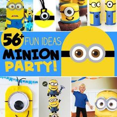If you are thinking about throwing a Minion birthday party, here are over 56 Fun Minion Party Ideas to make your event the best there ever was. Go all out and dress up in a Minion's costume, you'll be the hit of your kids party!