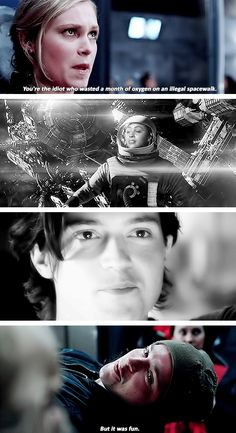 I didn't really like Finn (a lot of that was because I really like Bellamy) but I kinda felt bad for him when this happened...