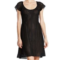 Byron Lars laser cut fit and flare dress - size 6 Byron Lars laser cut fit and flare dress - size 6 - Brand new with tags - cap sleeve dress, scoop neckline - black mesh overlay - lined Byron Lars Dresses Midi