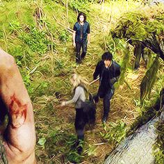 What I love about this scene is that Bellamy had basically threatened to kill her, but he saved her when she could have actually died because it was his instinct. His instinct is to save people, he is not a killer