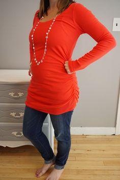 Stitch Fix Maternity: Halloway Cotton Maternity Knit Shirt #stitchfixbump #stitchfix