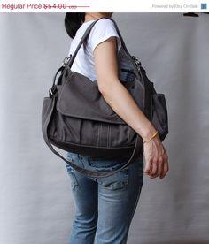 20% SALE Pico in Dark Grey (Water Resistant) Laptop / School Bag / Shoulder Bag / Messenger Bag / tote / Diaper Bag / Handbag / Wallet on Etsy, $43.20