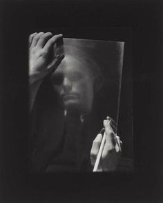 Josef Sudek / Portrait of the Painter Vaclav Sivko / 1955 /.
