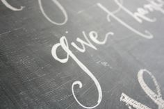 Info on how to write on a chalkboard including a useful tutorial with links to chalk pencils and pens Chalk Writing, Chalkboard Writing, Chalkboard Lettering, Chalkboard Designs, Chalkboard Paint, Jones Design Company, Chalk Pencil, Chalk It Up, Chalk Board