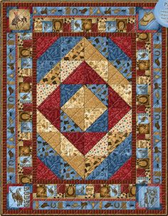 Ironwood Ranch Quilt Kit.  I found this kit on the Bear Creek Quilting site.  Love the colors in this !