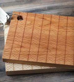 """Herringbone Engraved Cutting Board - 16"""" x 11"""""""