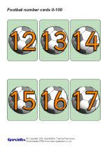 Football number cards 0-100 (SB290) - SparkleBox