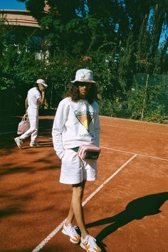 Casablanca Sets a Big Summer Mood With Knitted Shirts & New Balance Collab New Balance Sneakers, New Balance Shoes, New Balance Outfit, Casablanca, Summer Campaign, Campaign Fashion, Tennis Fashion, Vintage Trends, Bowling Shirts