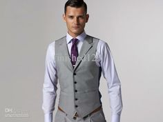 Wholesale Formal Men's Waistcoat Groom Tuxedos Wear Bridegroom Vests (Custom-made)-002, Free shipping, $22.4-39.2/Piece | DHgate