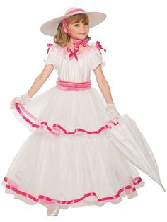Forum Novelties Southern Belle Girl Costume as SHOWN Medium for sale online Dress Hats, Costume Dress, Dress Up, Halloween Costumes For Girls, Girl Costumes, Costume Halloween, Beautiful Costumes, Beautiful Gowns, Southern Belle Costume