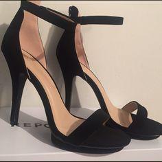 Black swayed platform high heels (New) Amy-01 Windsor WINDSOR Shoes Heels