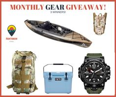 HUNTSMAN SURVIVAL GIVEAWAY! Includes Yeti cooler, kayak, watch, backpack, hydration pack. sweepstakes sweeps contest outdoors
