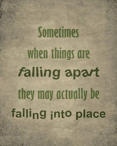 inspirational quotes for difficult times | It's very hard to see this at the time. It's really only with ...