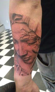 Tattoo in Progress by Travis Jones at Skin Gallery Tattoo Piercing in Corner Brook, Newfoundland and Labrador, Canada Newfoundland And Labrador, Art Work, Tatoos, Piercing, Body Art, Corner, Canada, Portrait, Friends
