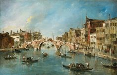 Guardi, Francesco Venetian, 1712 - 1793 View on the Cannaregio Canal, Venice c. 1775-1780