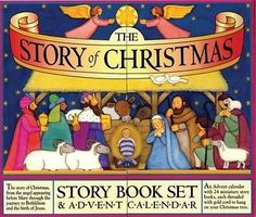 The Story of Christmas Story Book Set & Advent Calendar by Mary Packard Hardcove