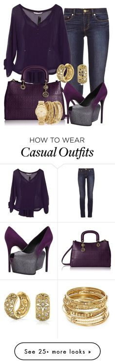 """""""casual"""" by alice-fortuna on Polyvore featuring Tory Burch, Diane Von Furstenberg, Tommy Hilfiger, Giuseppe Zanotti, ABS by Allen Schwartz, Michael Kors and Bling Jewelry"""