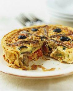 Recette de Tarte aux légumes du soleil et aux anchois